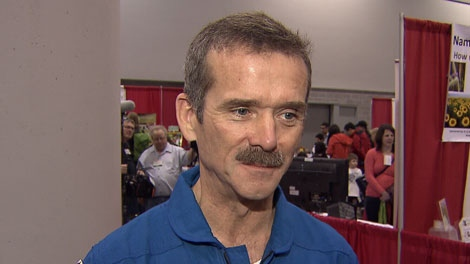 Canadian astronaut Chris Hadfield visited Vancouver to connect with the potential next generation of space explorers. Feb. 18, 2012. (CTV)