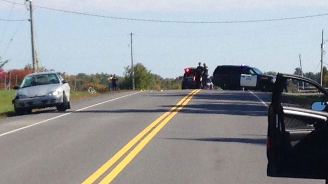OPP investigate the death of a cyclist on County Road 25 near Alexandria. (CTV Ottawa)