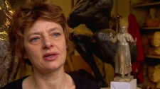 Sculptor Elizabeth Cibot appears on CTV News, Sunday, Feb. 19, 2012.
