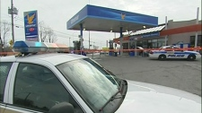 A man in his 20s who was shot by police early Sunday morning in Saint-Eustache.