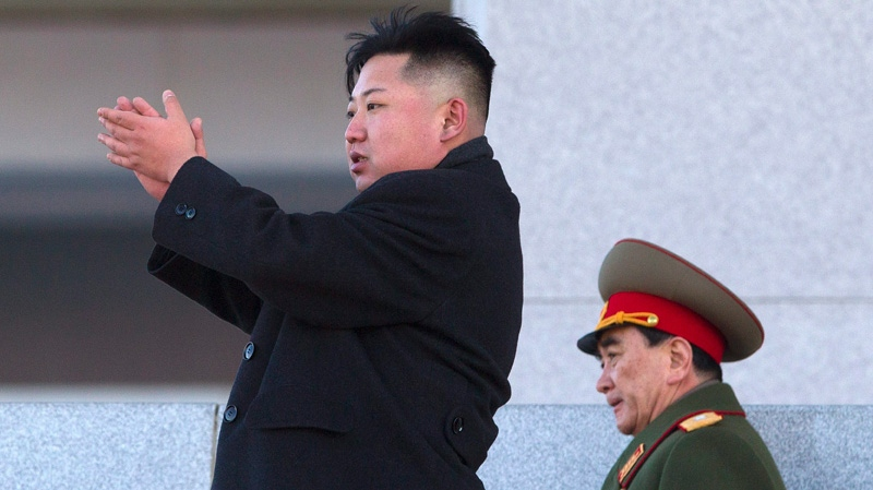 Kim Jong Un claps in this file photo taken in Pyongyang, North Korea. (The Associated Press)
