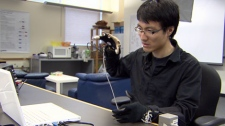 UBC student Johnty Wang is helping develop a technology that uses hand gestures to create speech. Feb. 19, 2012. (CTV)