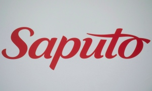 A Saputo logo is shown at the company's annual general meeting in Laval, Que., Tuesday, Aug. 6, 2013. (Graham Hughes / THE CANADIAN PRESS)