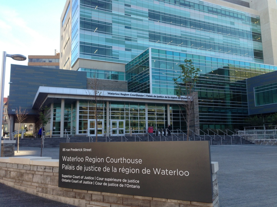 The Waterloo Region Courthouse is seen on Tuesday, Sept. 23, 2014. (Brian Dunseith / CTV Kitchener)