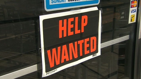 """A """"help wanted"""" sign is seen on a Toronto-area business on Monday, Feb. 20, 2012."""