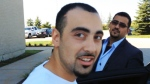 Sohill Agha is seen leaving the Peel Regional Police detachment in September.