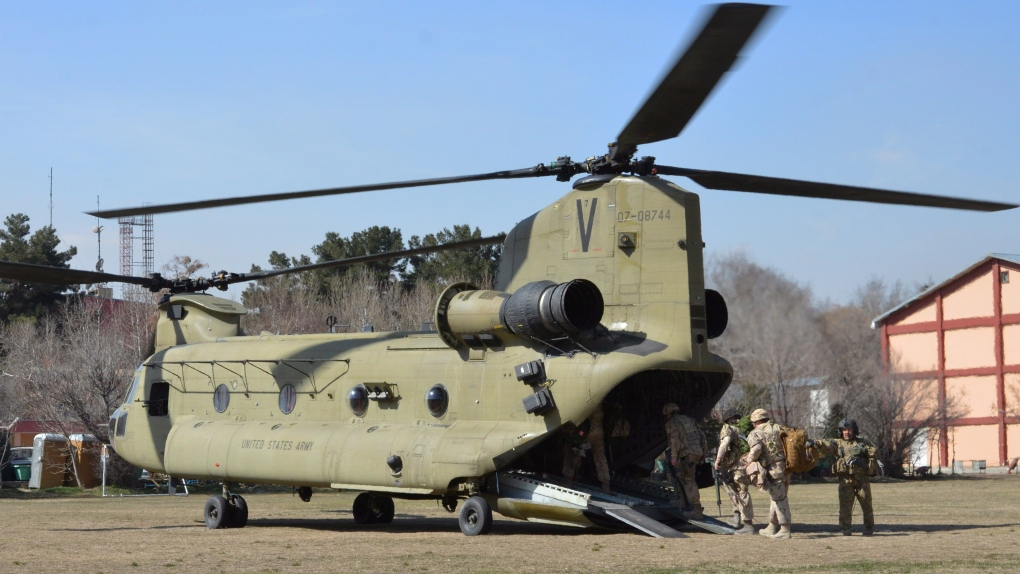 Canadian military Chinook helicopter