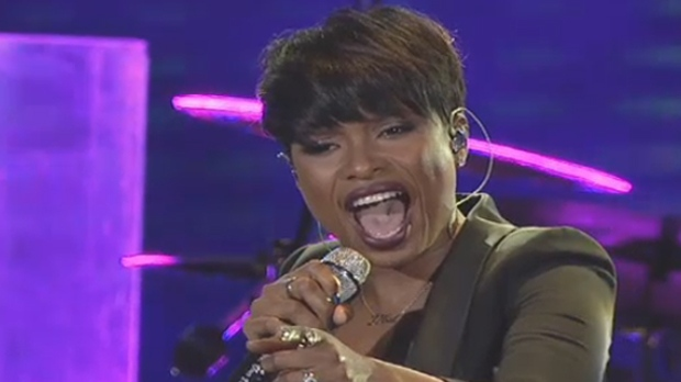 Jennifer Hudson performs during Saturday night's David Foster Foundation Miracle Gala and Concert