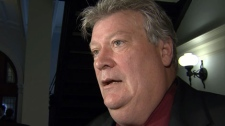 Energy and Mines Minister Rich Coleman speaks to reporters on Monday. Feb. 21, 2012. (CTV)