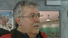 This hockey enthusiast was one of several who argued that the cancellation was unfair.