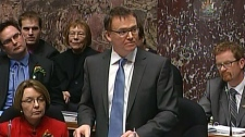 Finance Minister Kevin Falcon delivers budget details in the B.C. legislature. Feb. 21, 2012. (CTV)