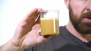 In this YouTube screengrab, a cup of Bulletproof Coffee is pictured. (The Bulletproof Executive / YouTube)