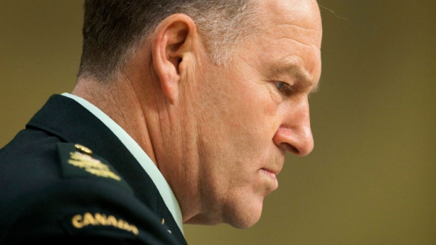 Chief of the Defence Staff Gen. Walt Natynczyk waits to appear before the Standing Senate Committee on National Security and Defence in Ottawa, Monday, June 7, 2010. (Adrian Wyld / THE CANADIAN PRESS)