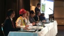 Mayoral hopefuls debate city infrastructure.