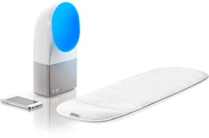 Withings Aura: This two-part product includes a Sleep Sensor, which slides under mattress and monitors your sleep cycles, body movement, breathing cycles and heart rate.
