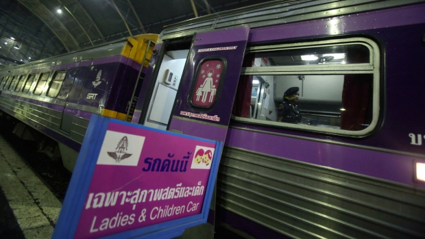 At Hua Lamphong train station in Bangkok