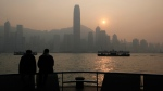 Victoria Harbor with the background of Hong Kong Island's legendary skyline, on Jan. 11, 2013. (AP / Kin Cheung)