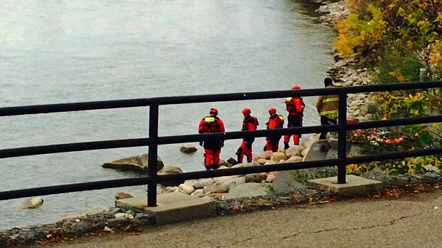 The body of a woman was pulled from the Bow River along Riverfront Avenue on Tuesday, September 30, 2014.