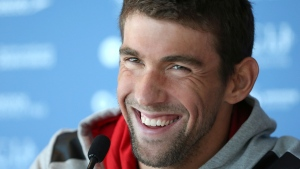 Michael Phelps at the Pan Pacific swimming championships in Gold Coast, Australia. (AP / Rick Rycroft)