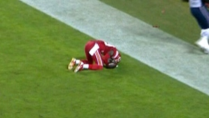 NFL player penalized for praying after scoring tou