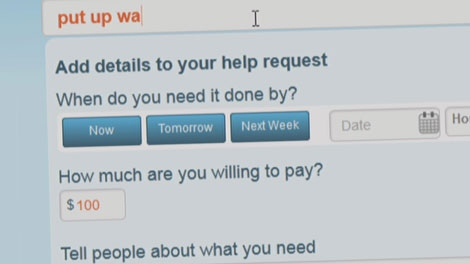 The new app Ayoudo helps users connect with people who are willing to do their chores for them. Feb. 22, 2012. (CTV)
