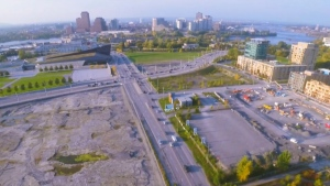 The NCC is looking to the private sector to help develop up to 20 hectares of Lebreton Flats. (Photo: NCC Video)