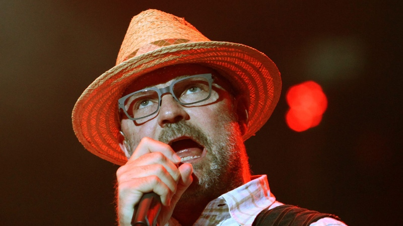 Tragically Hip frontman Gord Downie is one of a handful of Canadian artists and academics who have signed a letter supporting rock legend Neil Young's recent criticisms of the development of the Alberta tar sands. (CP / Patrick Doyle)