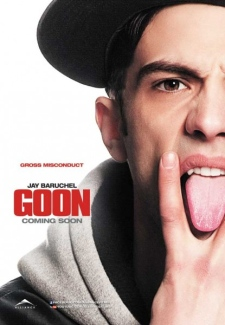 A spokeswoman for Alliance says the outdoor advertisements feature 'Goon' star Jay Baruchel 'gesturing in a way that the city believes is inappropriate.'