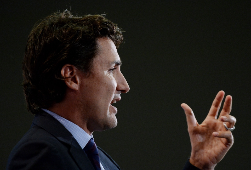 Liberal Leader Justin Trudeau speaks at a Canada2020 event in Ottawa on Thursday, October 2, 2014. (Sean Kilpatrick / THE CANADIAN PRESS)