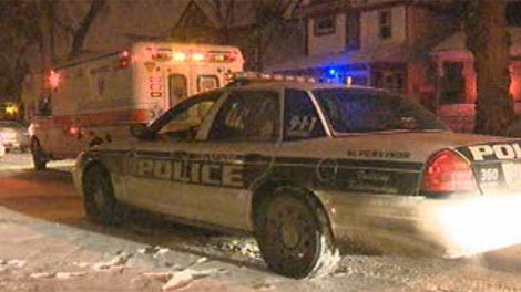 Winnipeg police and emergency crews were on scene on Young Street, near Broadway, on Feb. 24, 2012.