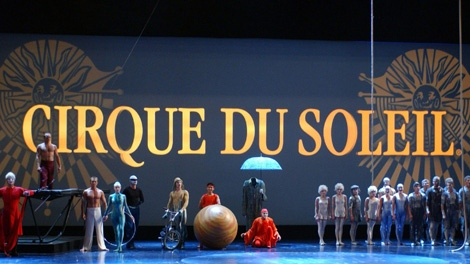 Aerialists, acrobats and contortionists from Cirque du Soleil are shown in Los Angeles. Cirque du Soleil are among the guests at this year's Academy Awards. The three-minute performance at the Oscars on Feb. 26 will feature more than 50 artists. (AMPAS / Darren Decker)