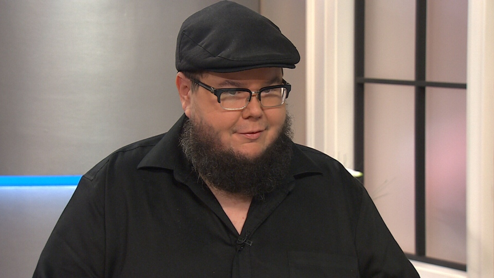 Spoken word performer Shane Koyczan appears on CTV's Canada AM in Toronto, Friday, Oct. 3, 2014.