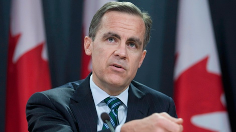 Bank of Canada Governor Mark Carney speaks with the media about the banks monetary policy report during a news conference in Ottawa Wednesday, Jan. 18, 2012. (Adrian Wyld / THE CANADIAN PRESS)