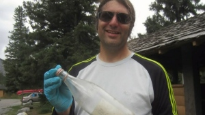 Jean-Francois Ciani was picking up garbage along the river in Canmore when he found a message in a bottle.