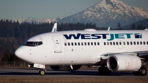 In this file photo, a WestJet Boeing 737-700 arrives at Vancouver International Airport on Feb. 3, 2014. (Darryl Dyck/The Canadian Press)