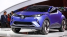 A Toyota C-HR concept is presented at the Paris Motor Show, in Paris, Friday Oct. 3, 2014. (AP / Remy de la Mauviniere)