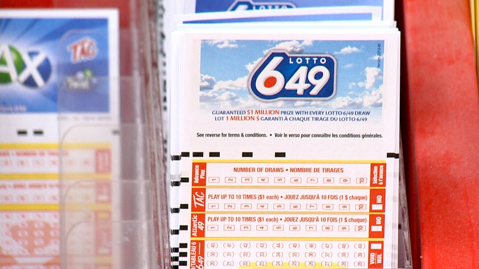 A Lotto 6/49 display is seen in Bridgewater, N.S. Oct. 3, 2014.
