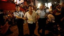 Police make arrests at Hong Kong protests