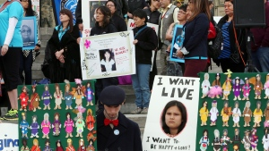 Rally for missing, murdered aboriginal women
