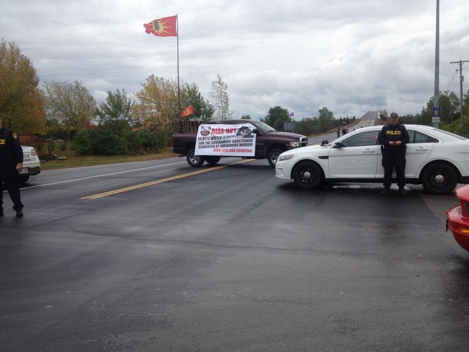 Skyway Bridge blockade - Oct. 4, 2014