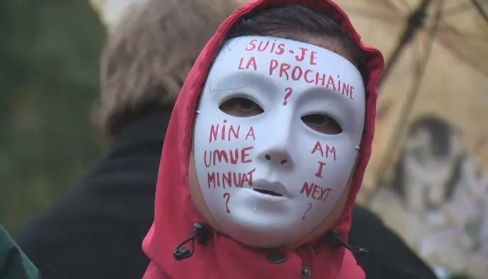 Missing murdered aboriginal women march Montreal