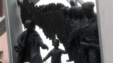 'Wait for me, Daddy' statue