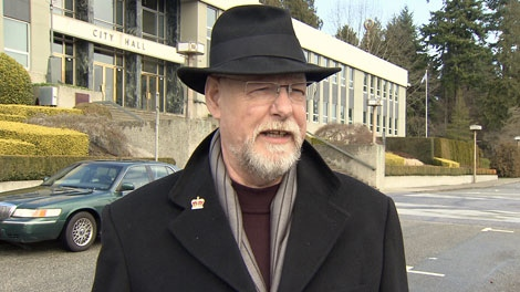 New Westminster councillor Bill Harper doesn�t want the new Pattullo Bridge to have six lanes. Feb. 26, 2012. (CTV)