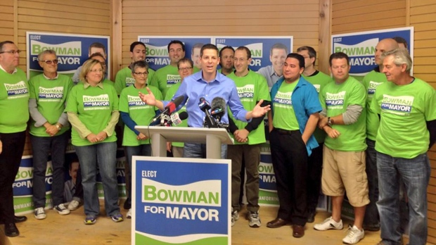 "Mayoral candidate Brian Bowman says his campaign is building a ""big tent"" inclusive for all citizens. (Photo by Ben Miljure/CTV Winnipeg)"