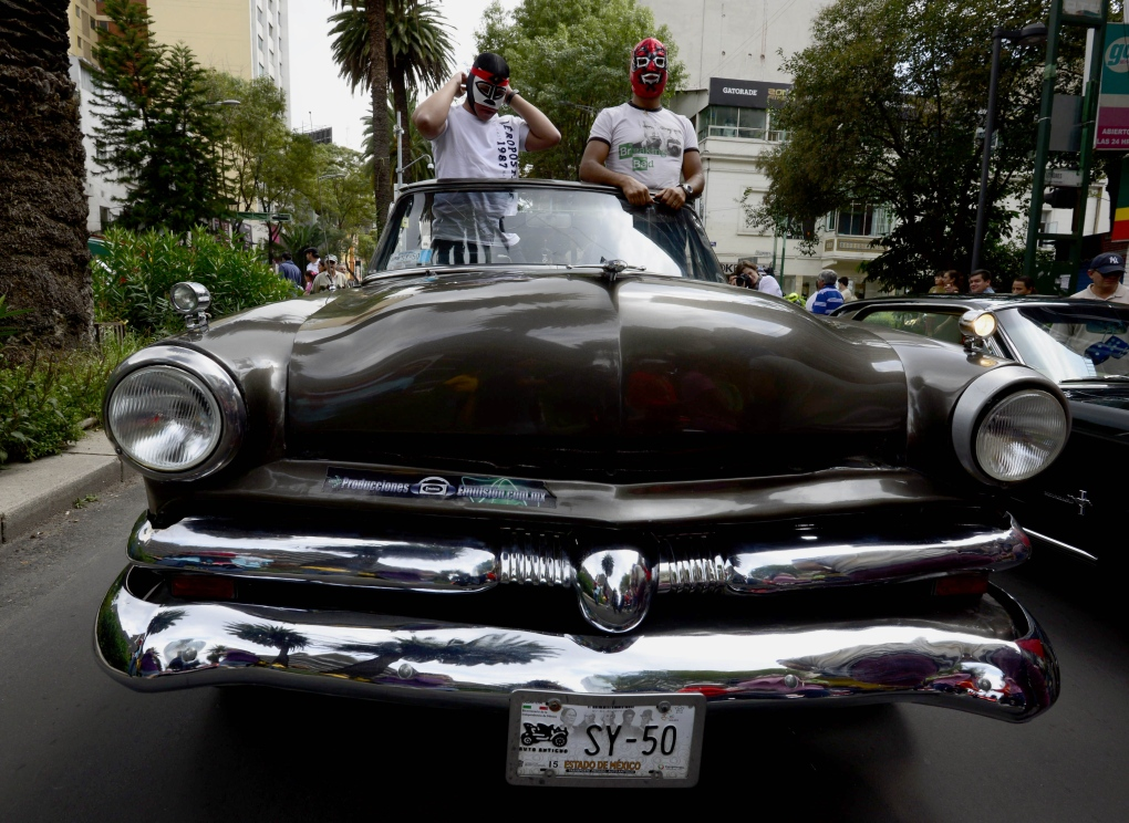 Classic car parade in Mexico