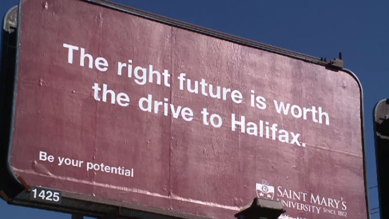 Saint Mary's University billboard