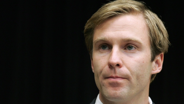 Brian Gallant addresses a news conference in Fredericton, on Sept.24, 2014. (THE CANADIAN PRESS / James West)
