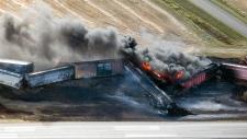 CN freight train derails near Wadena, Sask.