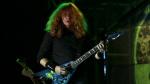 Dave Mustaine of the U.S. metal band Megadeth performs in concert in La Paz, Bolivia, Friday Nov. 25, 2011. (AP Photo/Juan Karita)