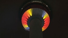 LED lighting at the Calgary Tower